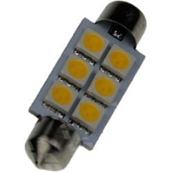 Buislampje Festoon 41mm 6 leds