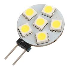 G4 rond 6 LEDs 12 Volt